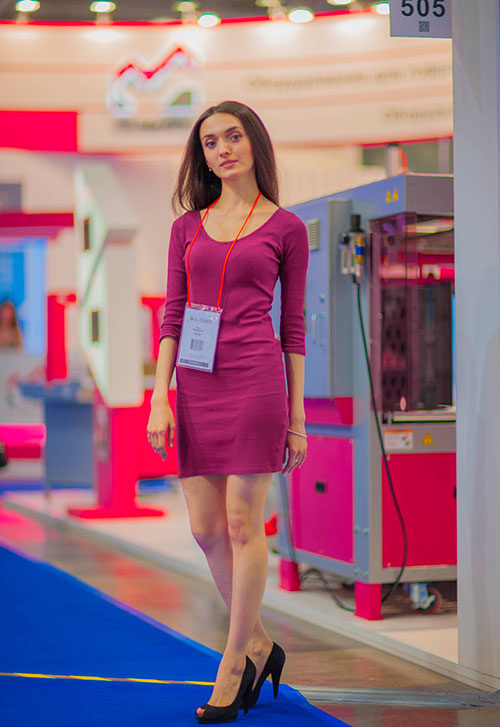 Moscow trade fair interpreter
