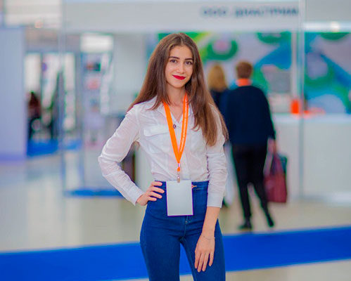 Moscow exhibition interpreter